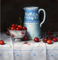 Wedgewood Pitcher with Cherries
