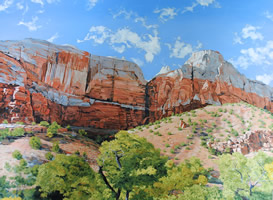 streaked wall of zion